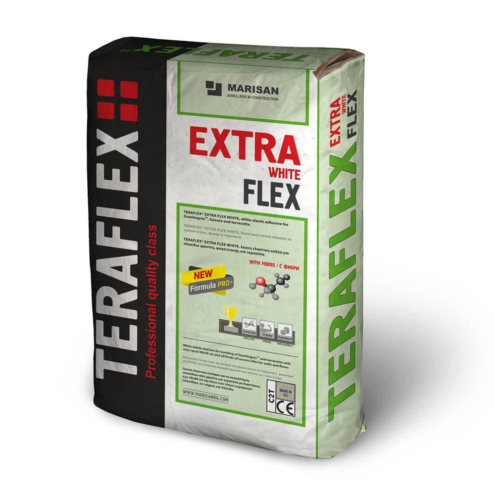 Лепило за теракот ТЕРАФЛЕКС® EXTRA FLEX - бяло 25 кг