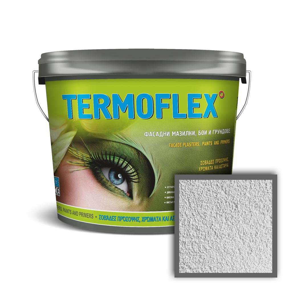 Фасадна силиконова мазилка ТЕРМОФЛЕКС® TECH 1,5 мм- драскана