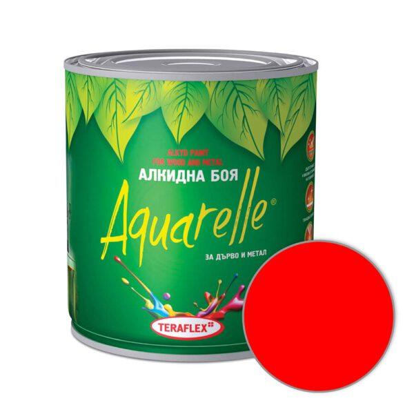 Алкидна боя за метал и дърво AQUARELLE - червена 0,600-17 л
