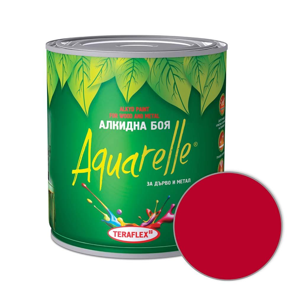 Алкидна боя AQUARELLE - вишневочервена 0,600-17 л
