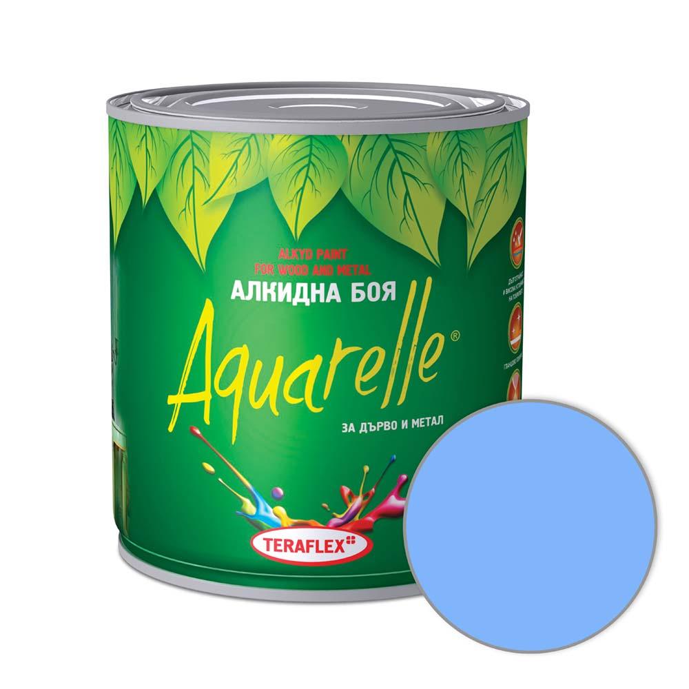 Алкидна боя за метал и дърво AQUARELLE - светлосиня 0,600-17 л