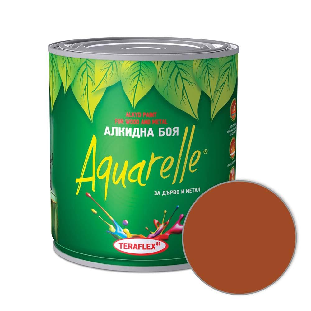 Алкидна боя AQUARELLE - кафява 0,600-17 л