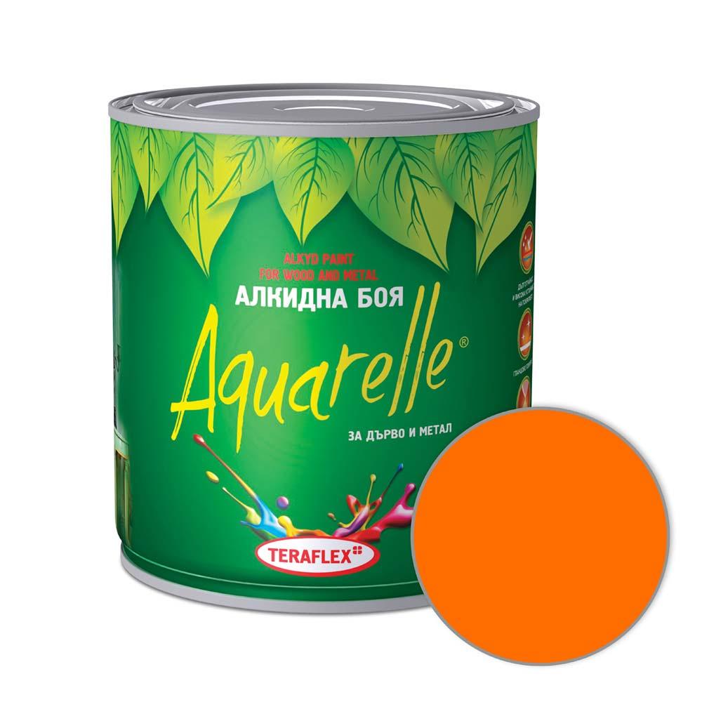 Боя за метал и дърво AQUARELLE - оранжева 0,600-17 л