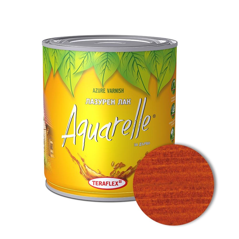 Цветен лак за дърво AQUARELLE - махагон 0,600-2,5 л