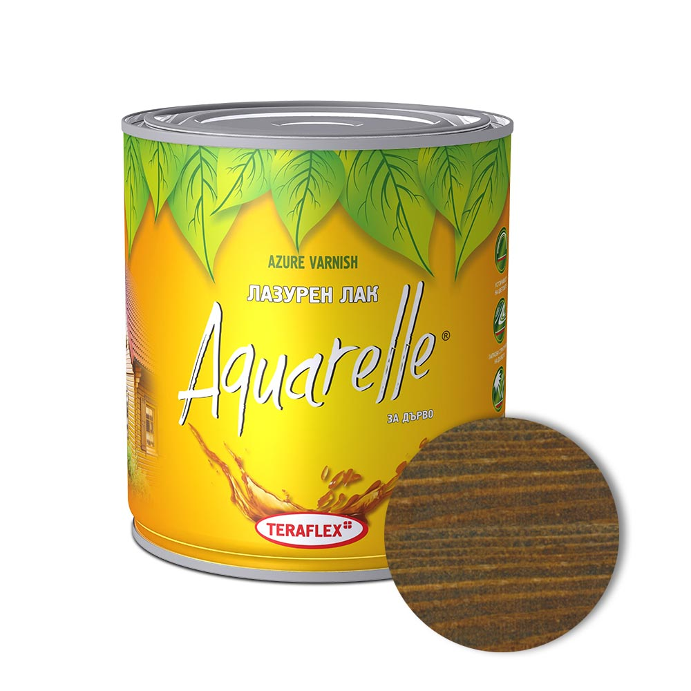 Алкиден лак за дърво AQUARELLE - палисандър 0,600-2,5 л