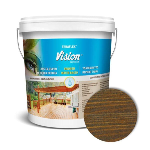 Лак за дърво на водна основа VISION - палисандър 0,700-2,5 л