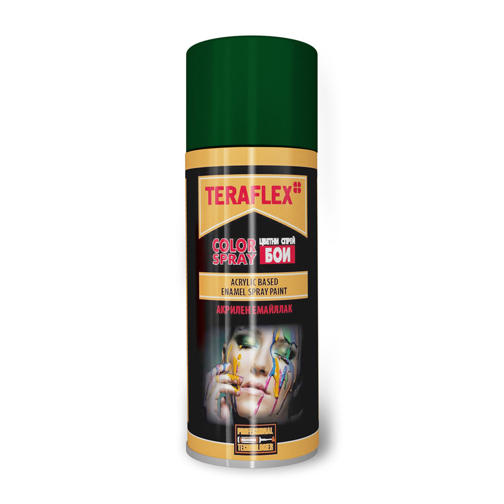 Спрей боя емайллак ТЕРАФЛЕКС - тъмно зелен 400 мл