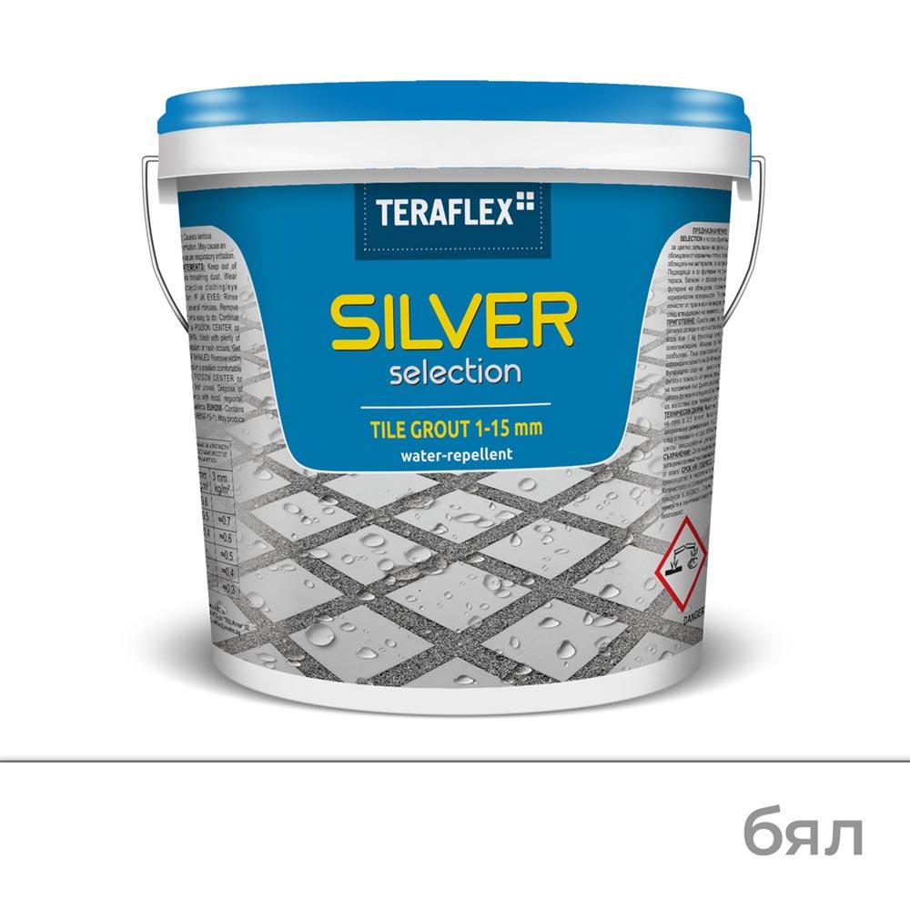 Влагоустойчива фугираща смес SILVER SELECTION, 1-15 мм - Цвят Бял