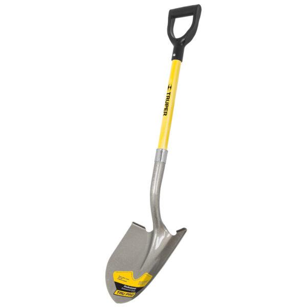 Обла лопата с дръжка от фибростъкло