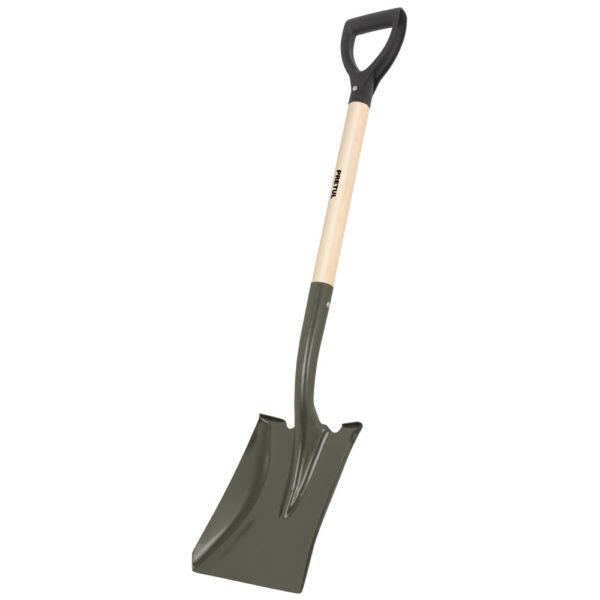 Правоъгълна  лопата - къса дръжка