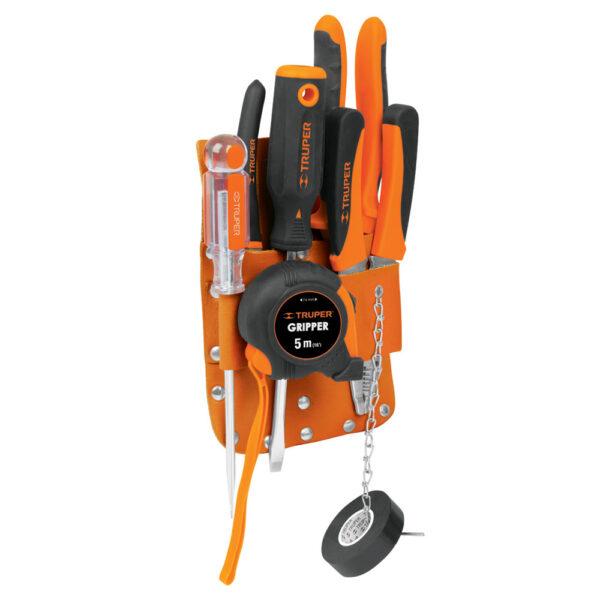Кожен колан за инструменти - 7 джоба