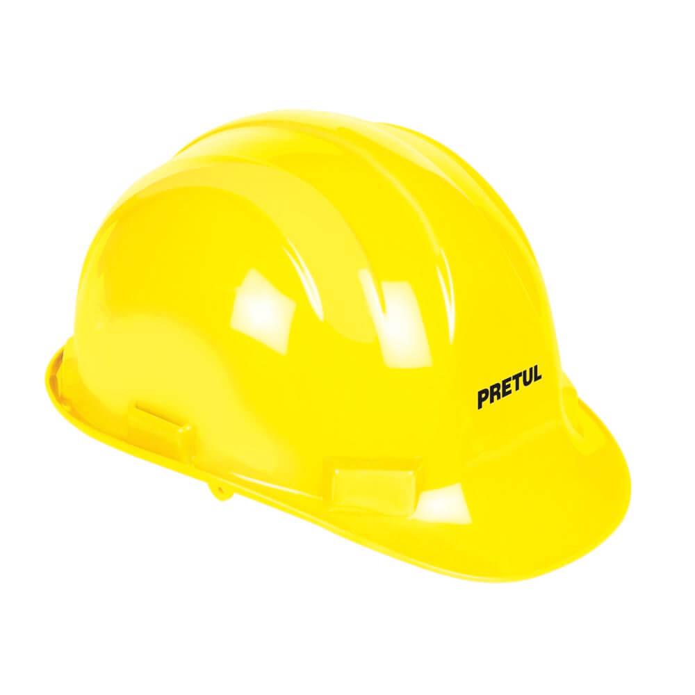 Жълта предпазна каска -  електроустойчива