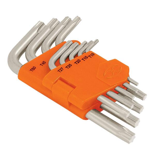 Комплект ключове Torx Т10-Т50 - 9 бр