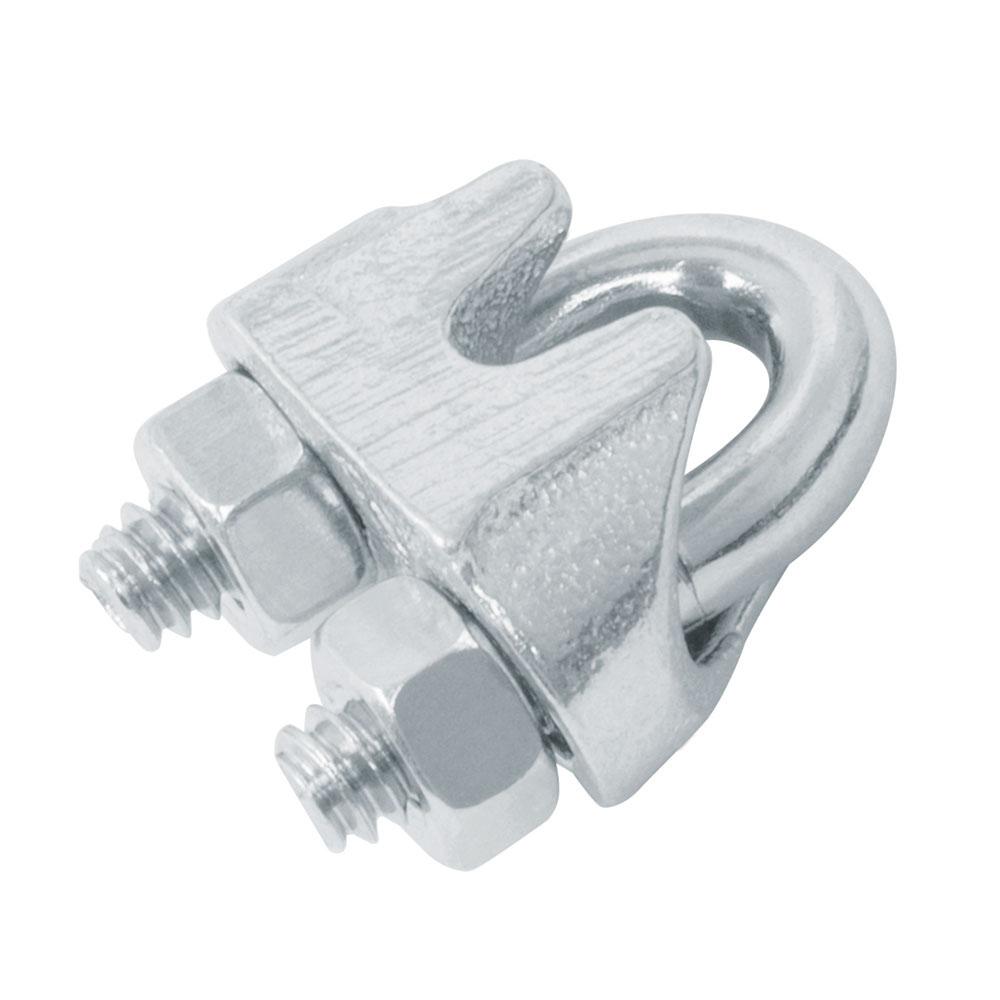 Текелажна скоба за въже - поцинкована 2бр- 8 мм