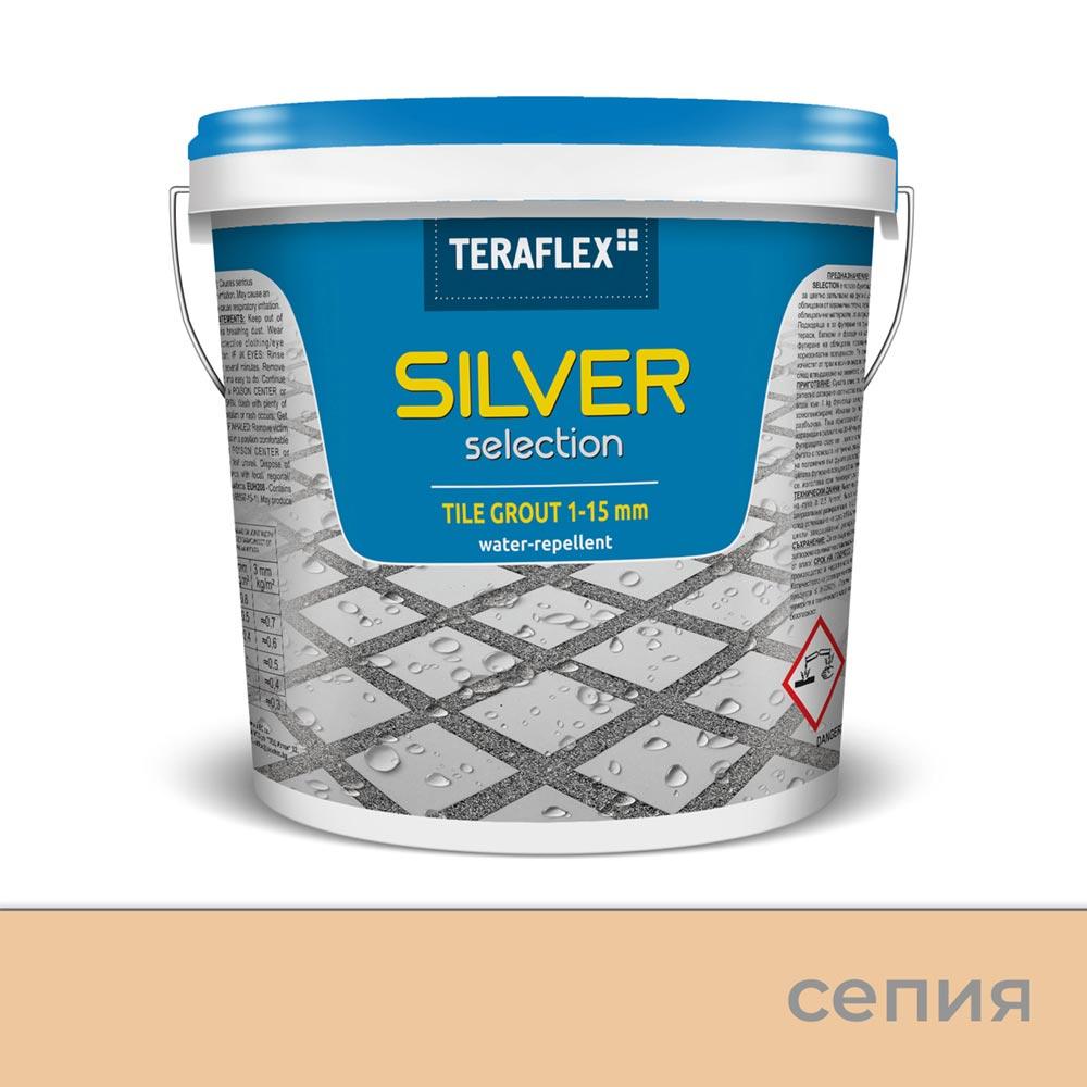 Еластична фугираща смес SILVER SELECTION, 1-15 мм – Цвят Сепия
