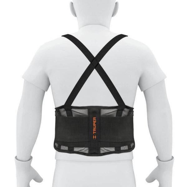 Еластичен колан за кръст с презрамки - р-р XL
