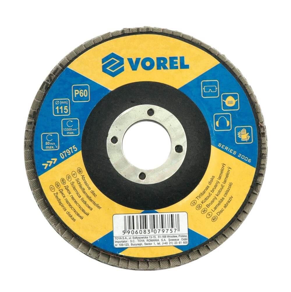 Ламелен диск за дърво и метал P120 - Ø115 мм