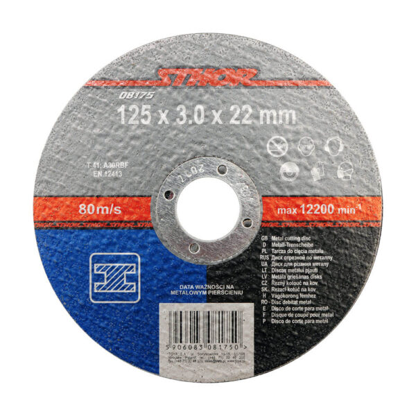 Диск за рязане на метал 125x3.0x22 мм