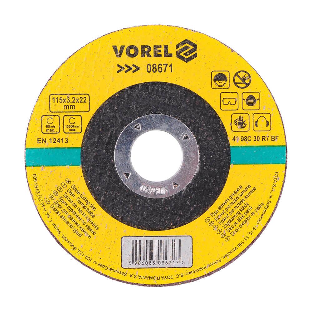 Диск за рязане на камък 115x3.2x22 мм