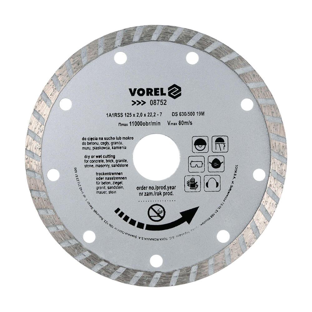 Диамантен диск за зидария TURBO Ø-125 мм