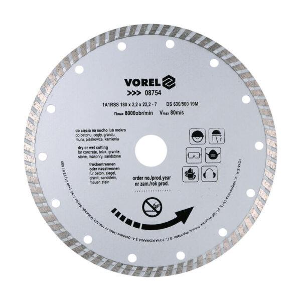 Диамантен диск за строителни материали TURBO 180 мм