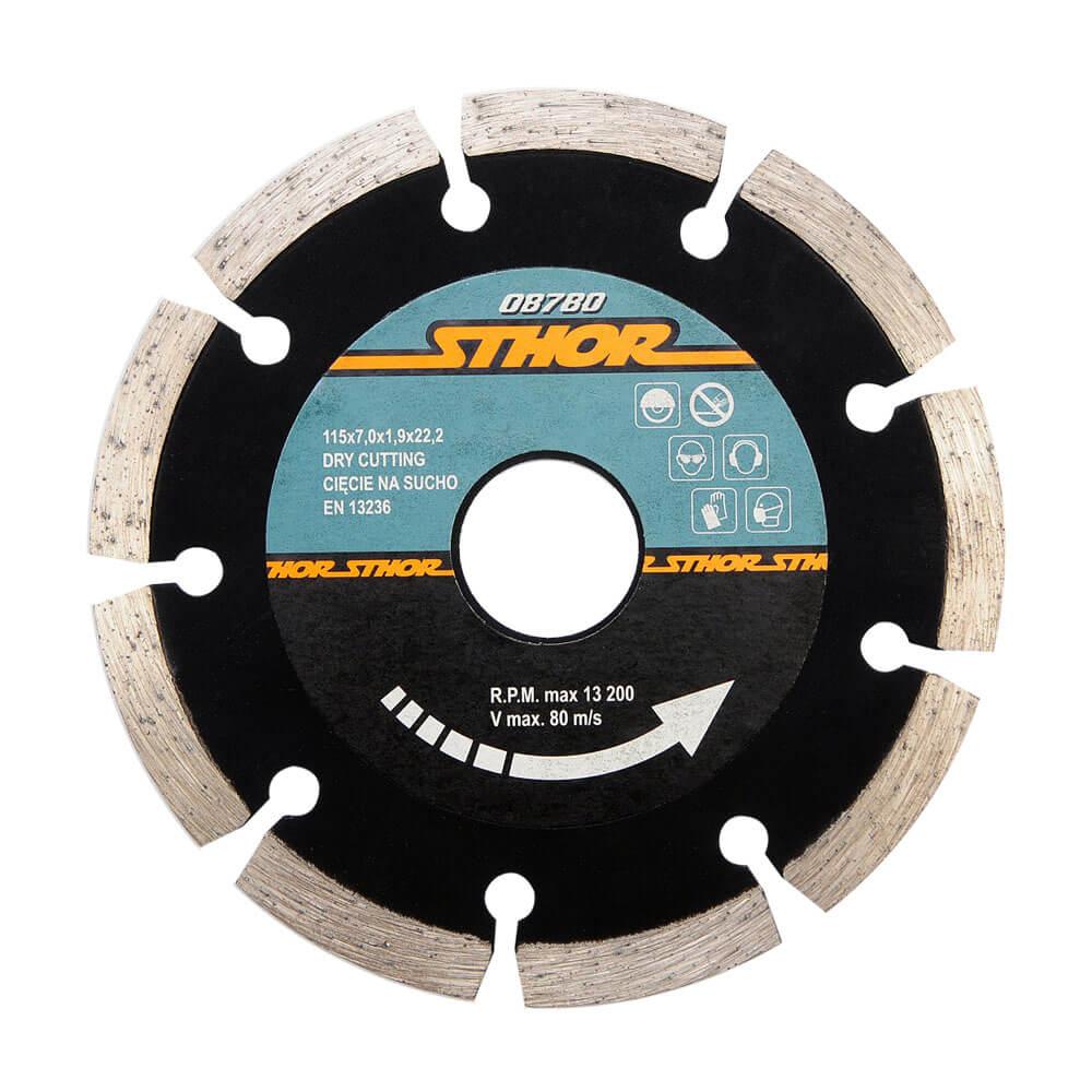 Диамантен диск за бетон, сегментиран Ø-115 мм