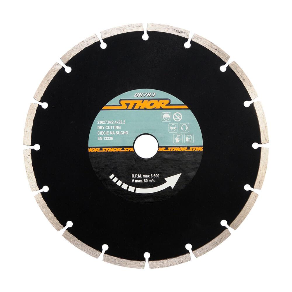 Диамантен диск за бетон, сегментиран Ø-210 мм