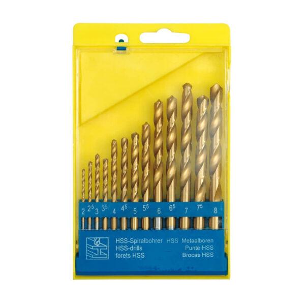 Комплект титаниеви свредла за метал 2-8 мм