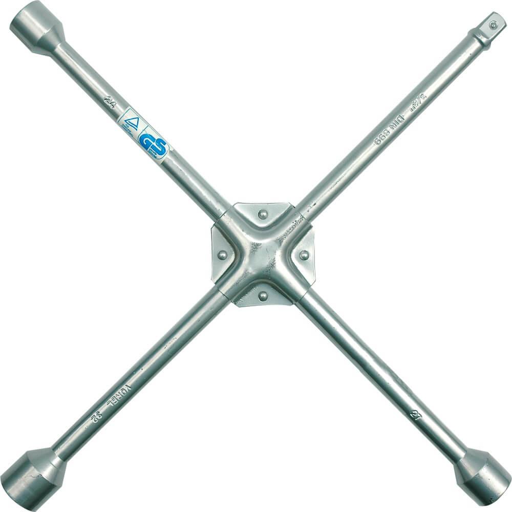 Кръстат ключ за джанти - 24, 27, 32, 19 мм