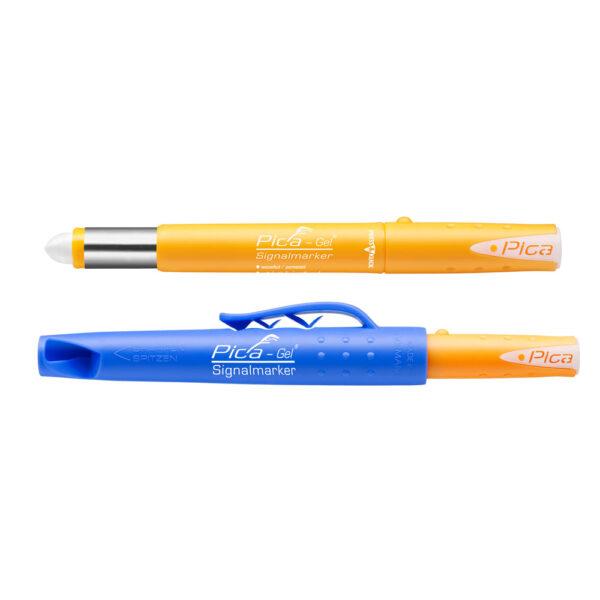 Индустриален маркер с гел-боя PICA - бял