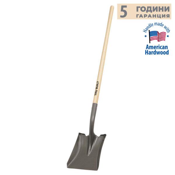 Правоъгълна лопата с дървена дръжка TRUPER
