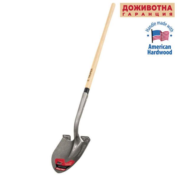 Заострена лопата TRUPER LIFETIME с дървена дръжка