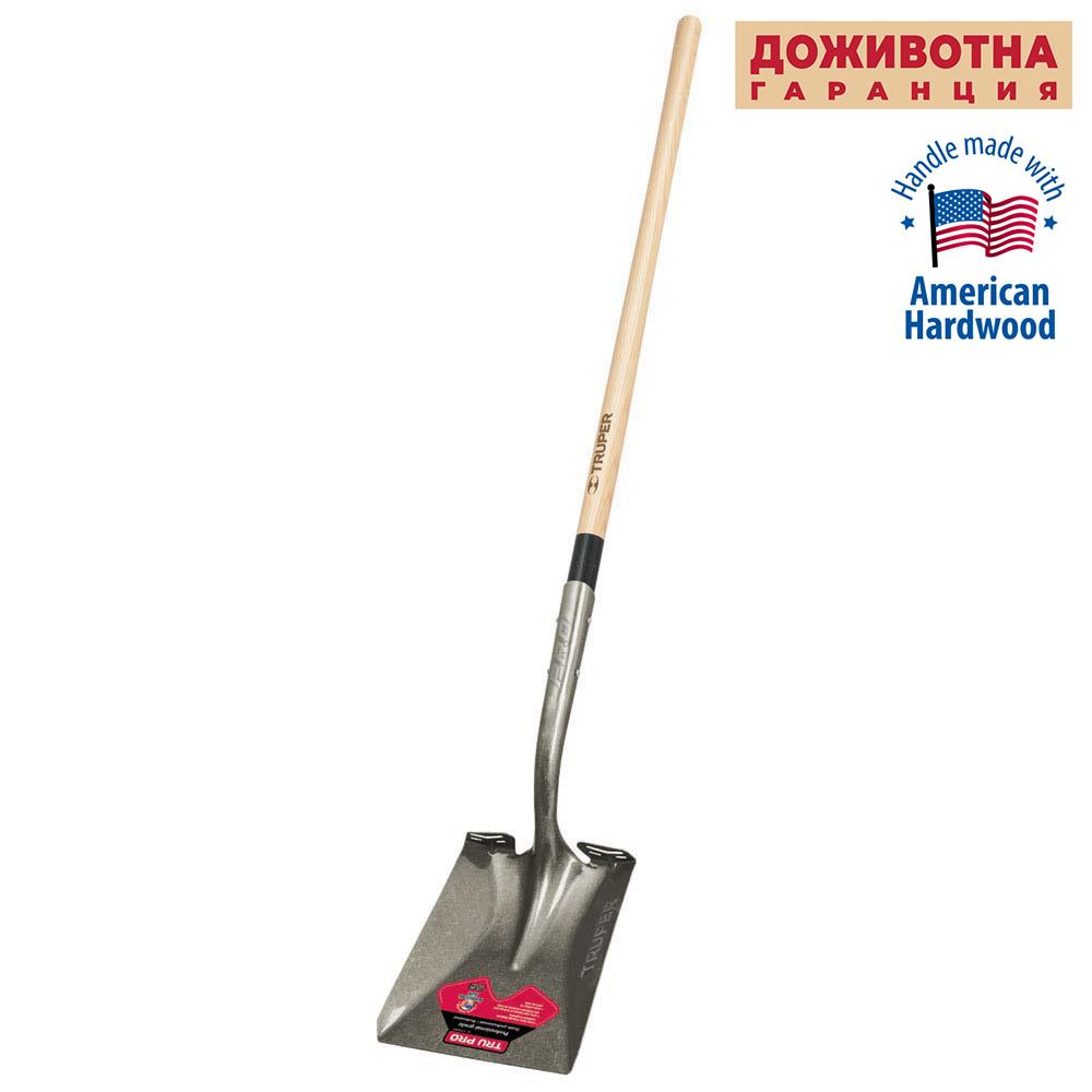 Правоъгълна лопата TRUPER LIFETIME с дървена дръжка