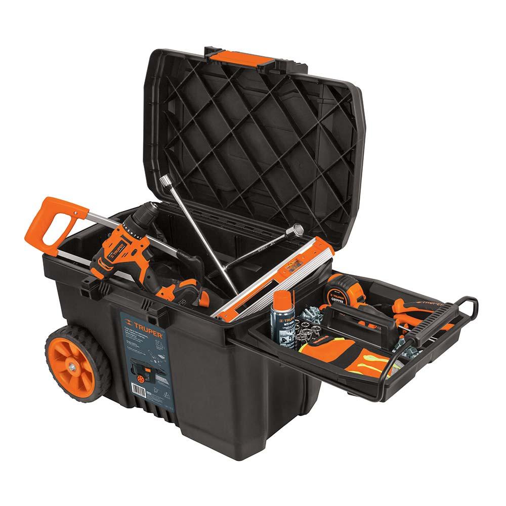 Куфар за инструменти на колела с телескопична дръжка