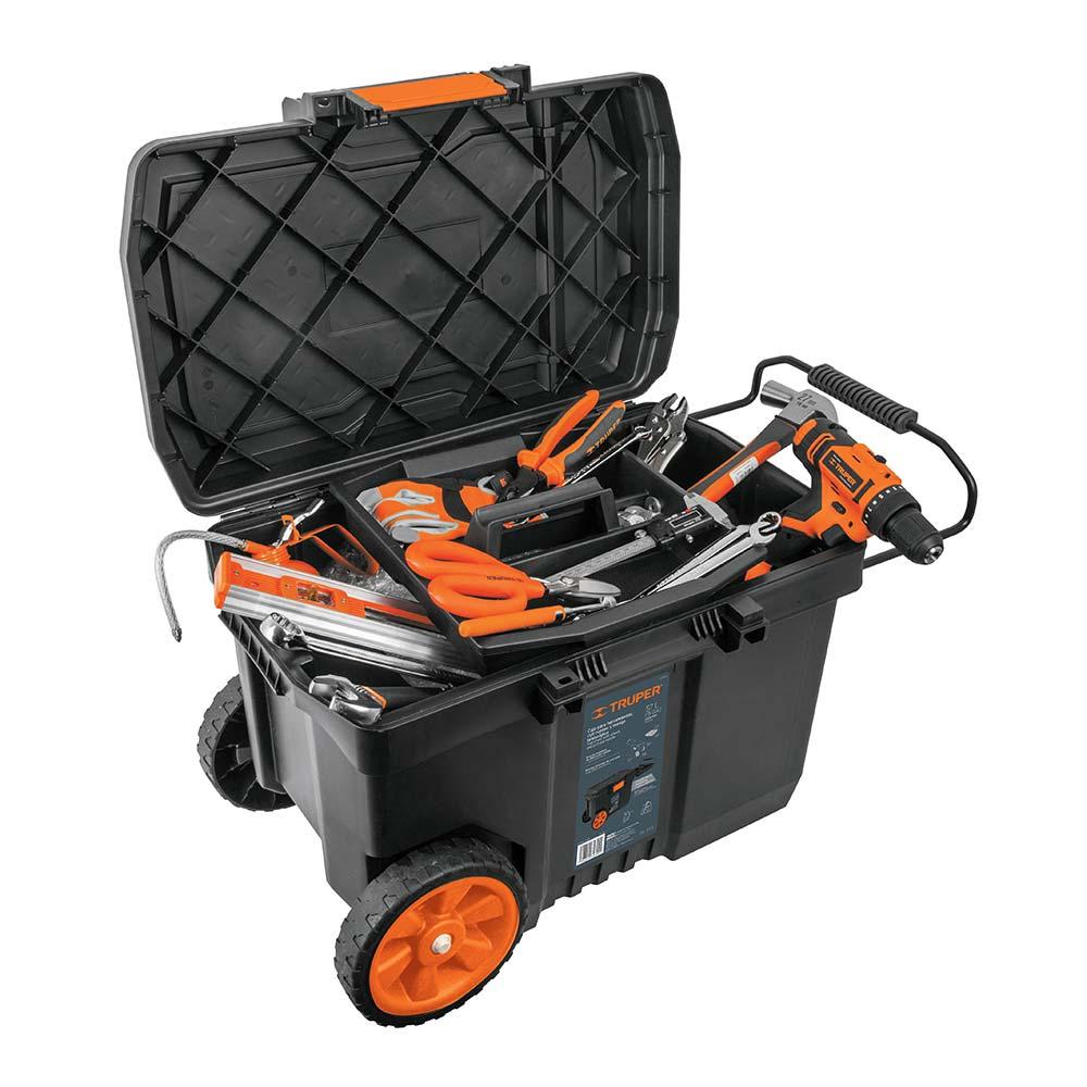 Куфар за инструменти на колела с телескопична дръжка 2
