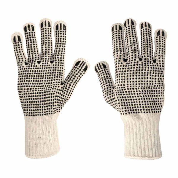 Работни памучни ръкавици, противоплъзгащи